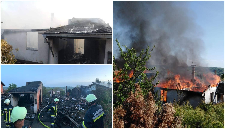 Dvije kuće izgorjele do temelja: Umirovljenici ostali bez svega