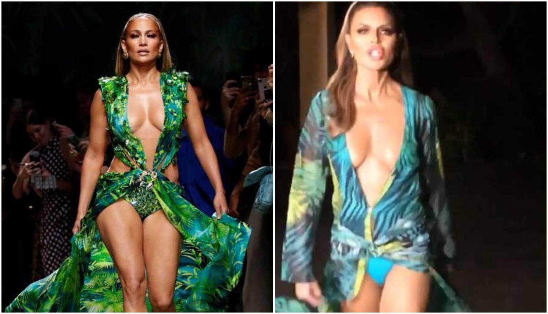 Rinna odjenula  haljinu po uzoru na J.Lo pa joj 'provirile' gaćice