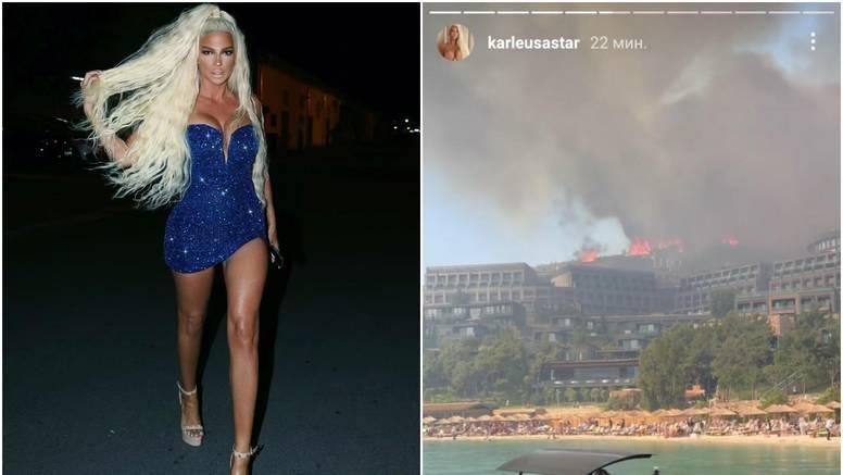 Karleušu s djecom evakuirali iz hotela zbog požara: Ovo je kaos