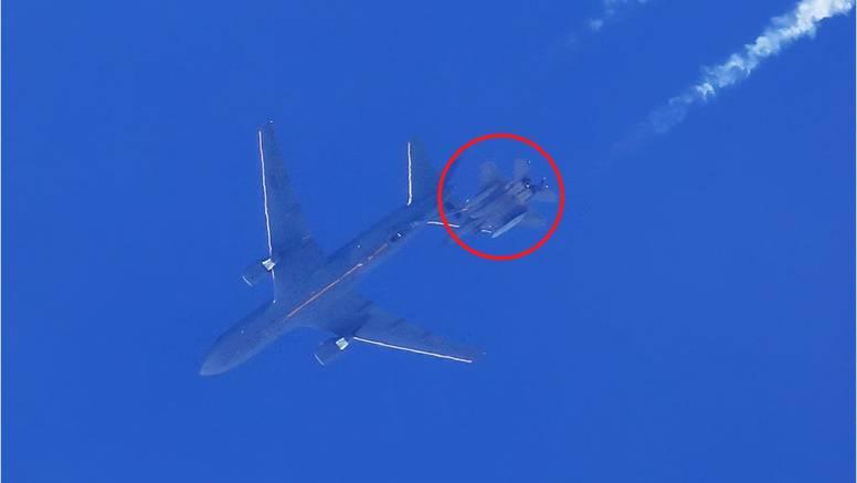 FOTO Pogledajte kako američki F15 visoko iznad Biograda u zraku toči gorivo iz avio-cisterne