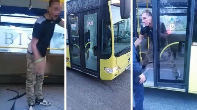 Mladić koji je demolirao bus bio pod utjecajem droge, ovisnik je