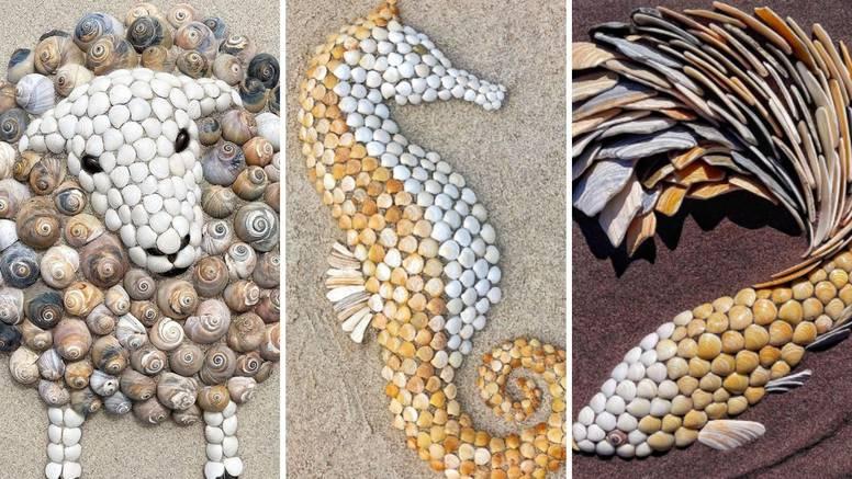 Stvara životinjske portrete od školjki koje pronađe na plaži