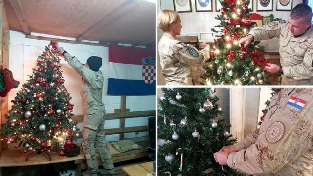 Hrvatski vojnici čestitali Božić iz Afganistana i okitili drvca