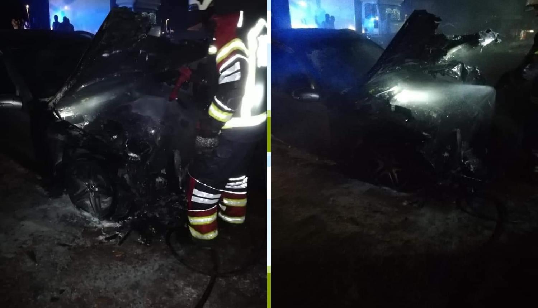 Novigrad Istarski : Mercedes je noćas izgorio na parkiralištu...