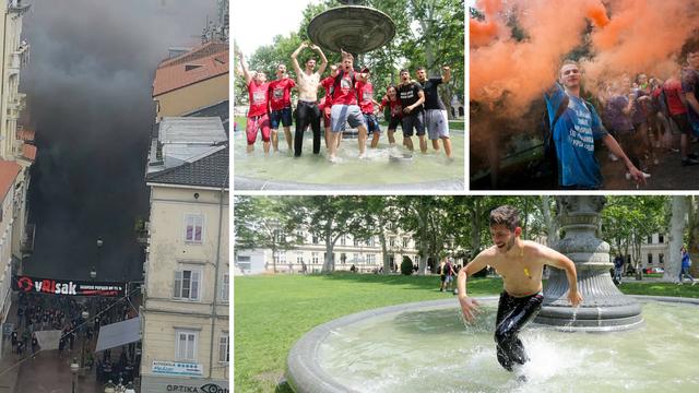 U Rijeci bacili dimnu bombu, u Zagrebu skakali u Manduševac