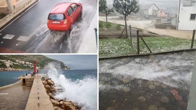 Vremenski kaos u cijeloj zemlji: Pljuskovi, tuča i jaka grmljavina
