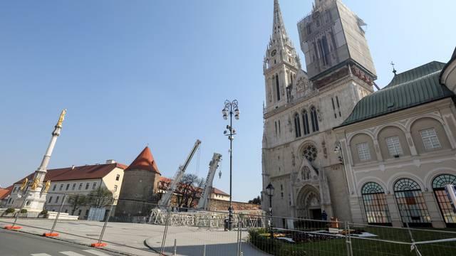 Zagreb: Nastavljeni pripremni radovi za sanaciju katedrale