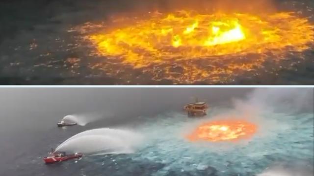 Ogromni vatreni prsten u Meksičkom zaljevu: Pukao naftovod, ocean doslovno gori