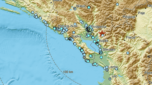 Dva potresa zatresla na granici Crne Gore i Albanije: Jedan bio 4,1 po Richteru, a drugi 3,4