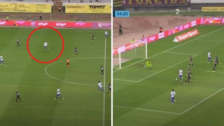 VIDEO Sahitijeva majstorija za pamćenje: Primio loptu na 40 metara pa dao čudesan solo gol