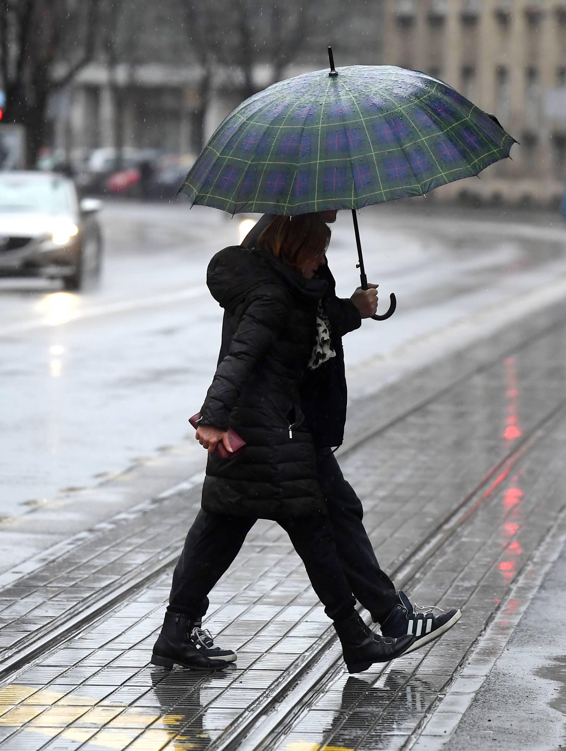 Kišni dan u Zagrebu