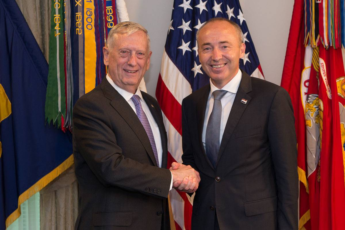 SD meets with Croatia's Minister of Defence