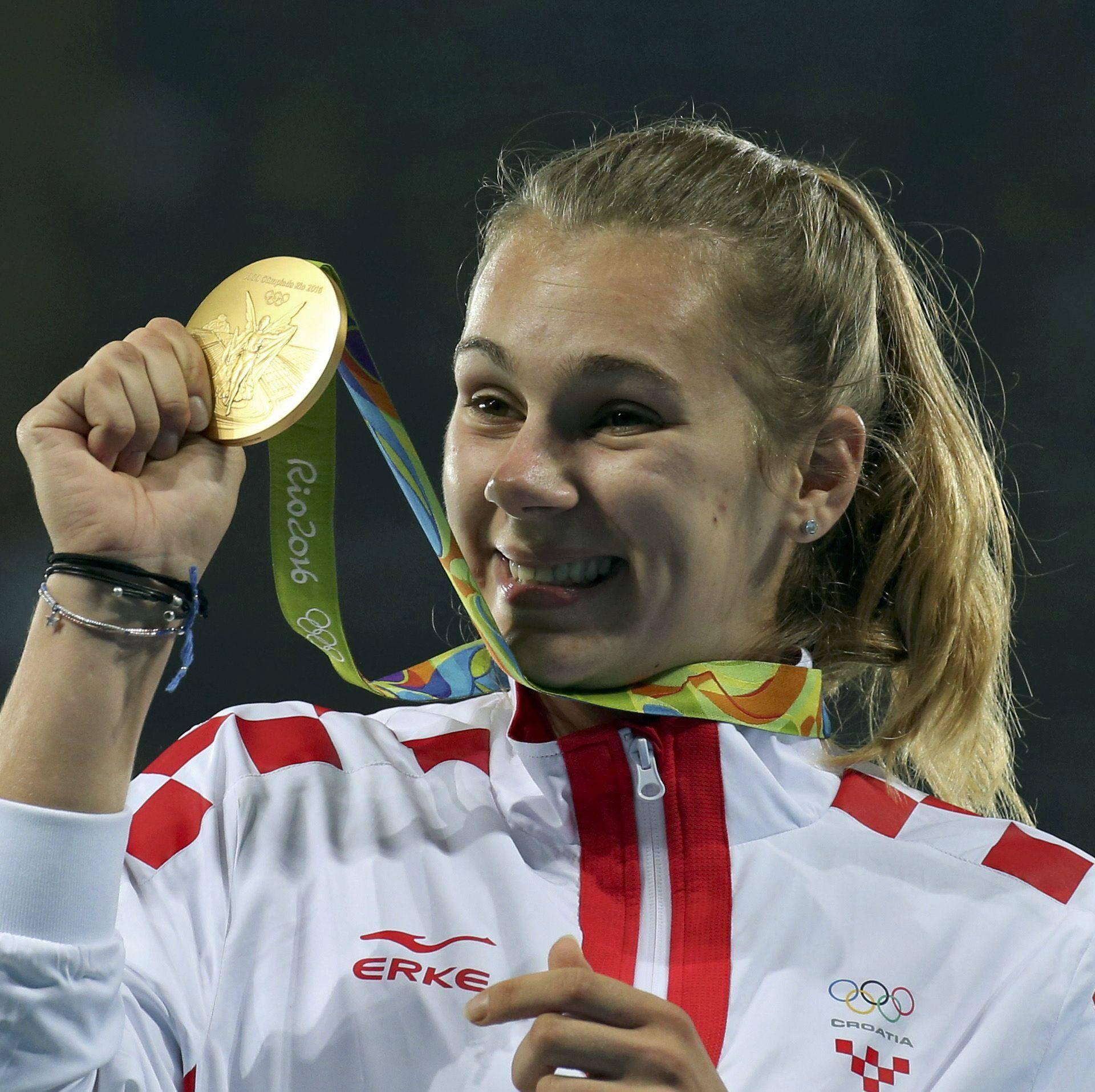 Athletics - Women's Javelin Throw Victory Ceremony