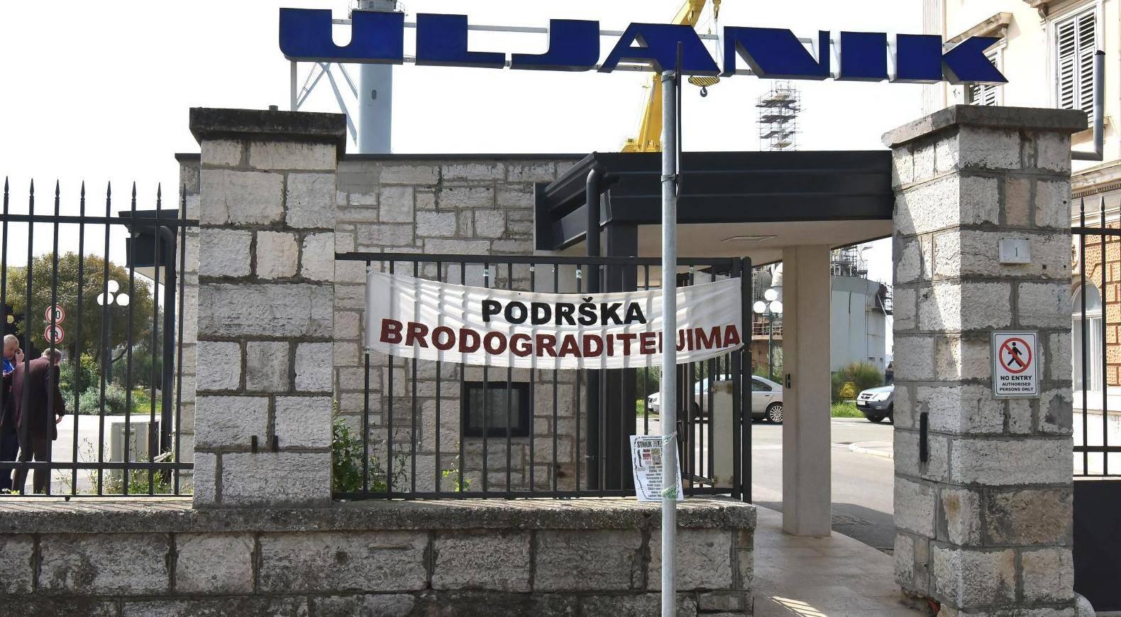 Pula: Na ulaznoj porti postavljen transparent s pozivom na štrajk glađu