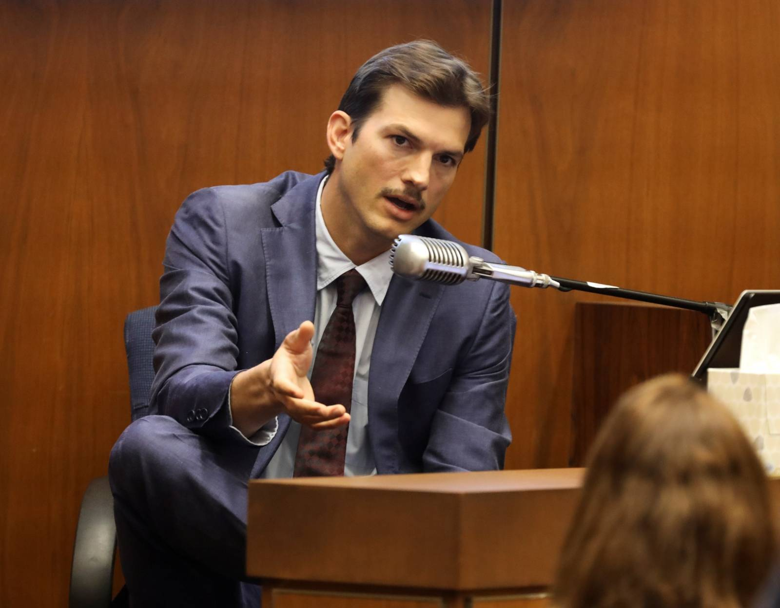 Actor Ashton Kutcher testifies at the murder trial of accused Serial killer Michael Thomas Gargiulo in Los Angeles