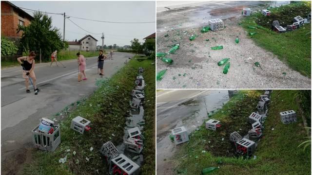 Iz kamiona mu popadale boce: Čistimo da ne probušimo gume