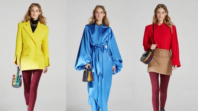 Sara Battaglia ima sve dugine boje na haljinama i torbicama