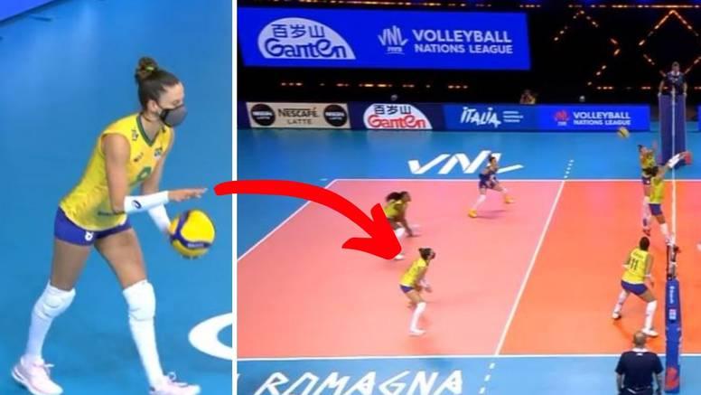 Jedina na terenu: Brazilska odbojkašica igrala s maskom!