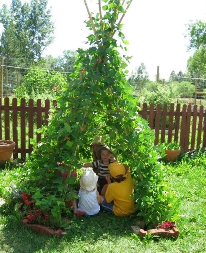 Super ideja: Mali vrt mahunarki postaje odličan šator za klince