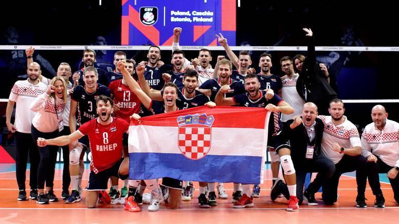 Nakon nogometa - odbojka: Hrvatska protiv Slovenije za 1/4 finale Europskog prvenstva!