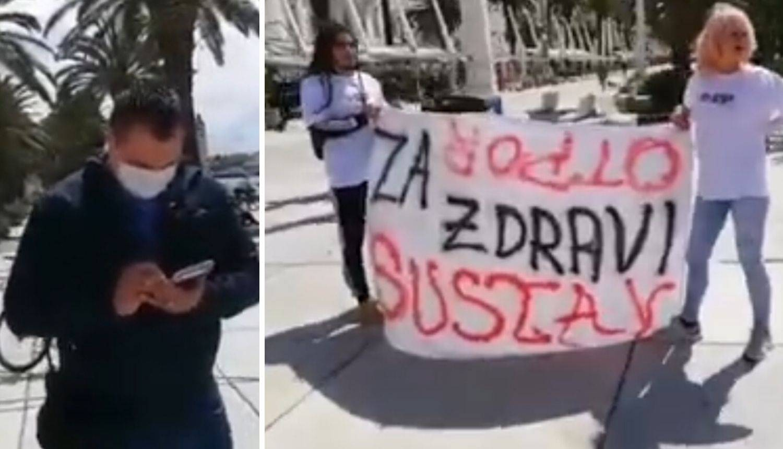 Prosvjed protiv 5G: Priveli ga jer je policajca nazvao 'druže'