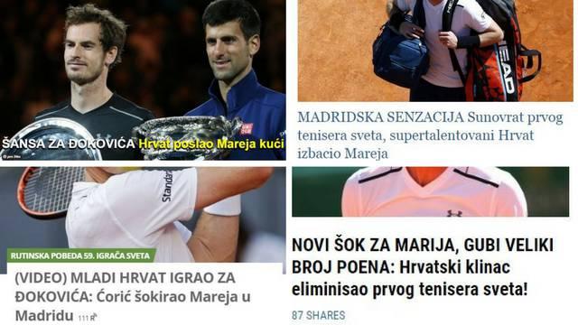 I Srbija slavi Ćorićevu pobjedu: Hrvatski klinac igrao za Noleta