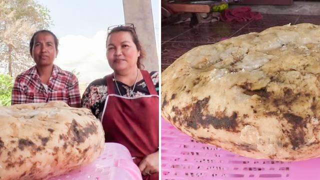 Žena u šetnji plažom pronašla grumen povraćotine kita koji vrijedi oko 1,6 milijuna kuna