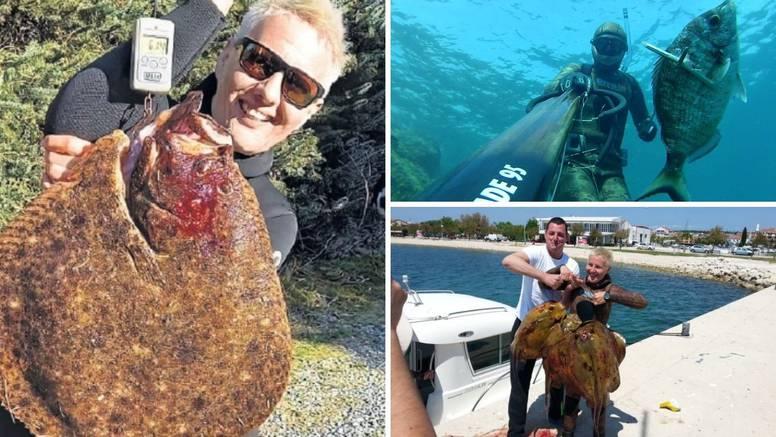 Lidija je kraljica ribara: Golim rukama ulovila romba od 6,1 kg