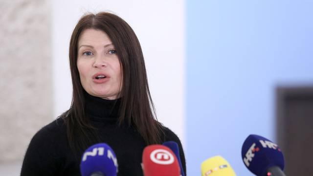 Zagreb: Sabina Glaasovac komentirala presudu Ivi Sanaderu i HDZ-u