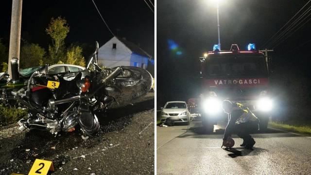 U teškoj nesreći kod Daruvara poginulo dvoje ljudi: Udarili motociklom u srnu pa u auto