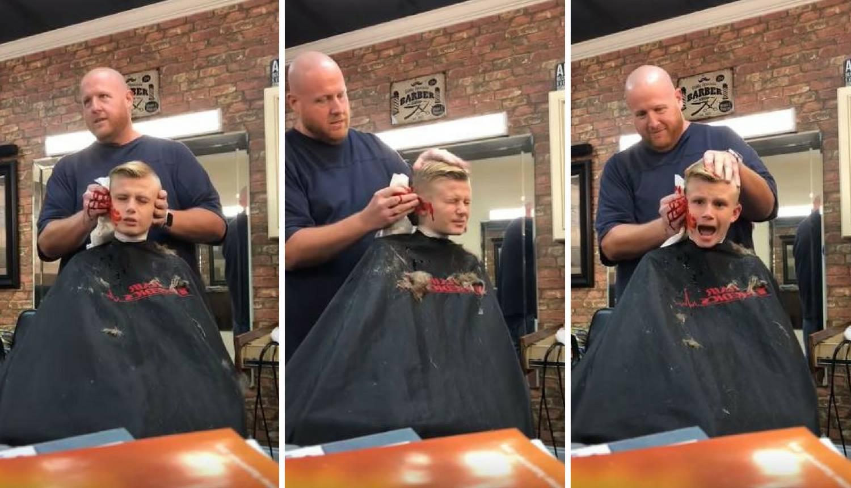 Dječaku brijač 'odrezao' uho: 'Ne, ne, ne... Zovi moju mamu!'