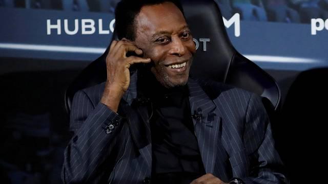 FILE PHOTO: Brazilian soccer legend Pele is seen in Paris