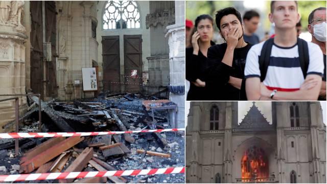 U šoku gledali kako požar guta katedralu: Izbio je iza orgulja...