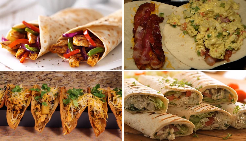 4 recepta za brze i fine tortilje s mekom piletinom ili slaninom