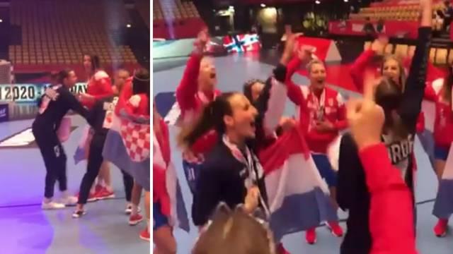 Igračice Norveške zapjevale s Hrvaticama! 'Neeeopisivooo!'