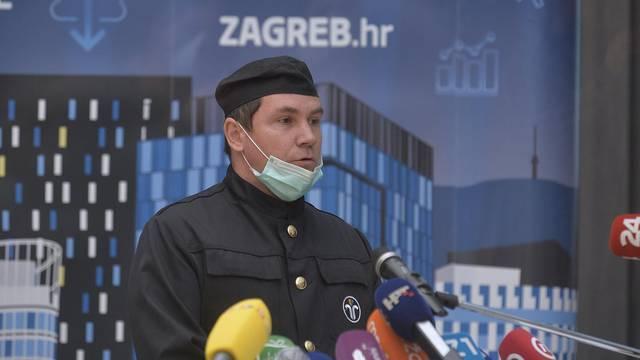 Zagreb: Konferencija za medije gradonačelnika Milana Bandića sa suradnicima