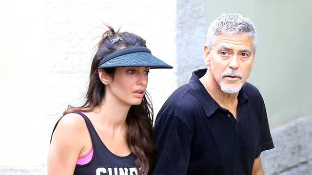 *PREMIUM-EXCLUSIVE* *MUST CALL FOR PRICING BEFORE USAGE**NOT AVAILABLE FOR ONLINE SUBSCRIPTIONS* Actor George Clooney and his wife Amal in Laglio