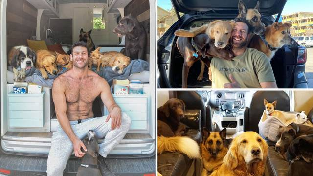Putuje u kamperu sa svojih 11 pasa, a razlog je vrlo plemenit