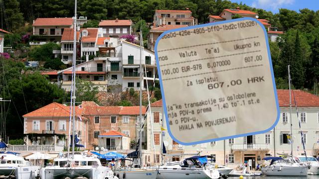 Na Hvaru za 100 eura daju 607 kuna: 'To je bezobrazno, ali nije protuzakonito. Smiju to raditi'