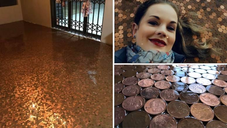 Provela je 70 sati na koljenima da bi pod ukrasila sa 50.000 novčića: 'Najluđi projekt ikad'