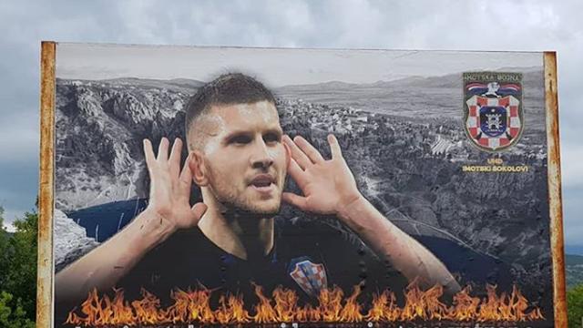 Jumbo plakat u Imotskom za zvijer iz Vinjana - Antu Rebića