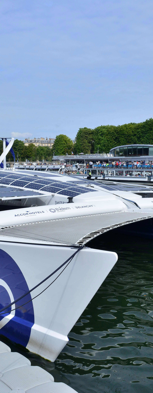 'The Energy Observer' Eco-friendly maxi-catamaran - Paris
