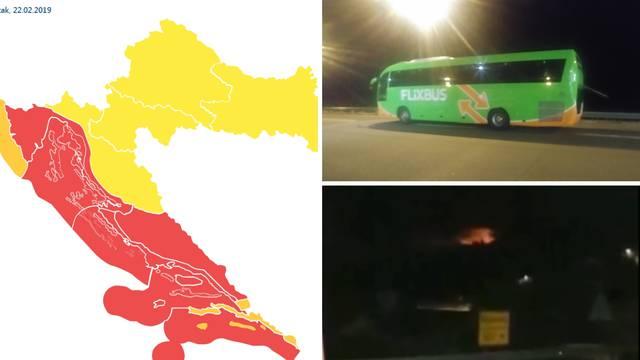 Bus stao zbog bure: 'Putnici su vrištali, dijete je počelo plakati'