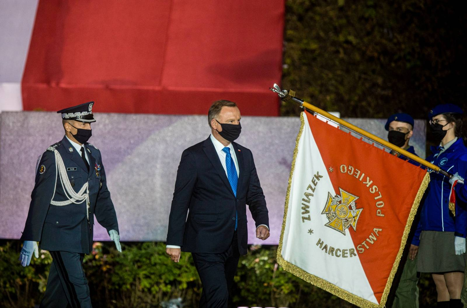 Polish President Duda takes part in a ceremony to mark the anniversary of the outbreak of World War Two in Gdansk