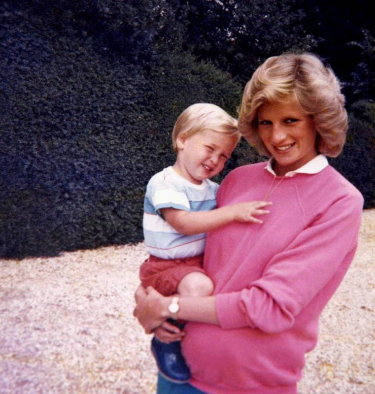 Britain's Prince William, the Duke of Cambridge and the late Diana, Princess of Wales are seen in an undated photo released by Kensington Palace