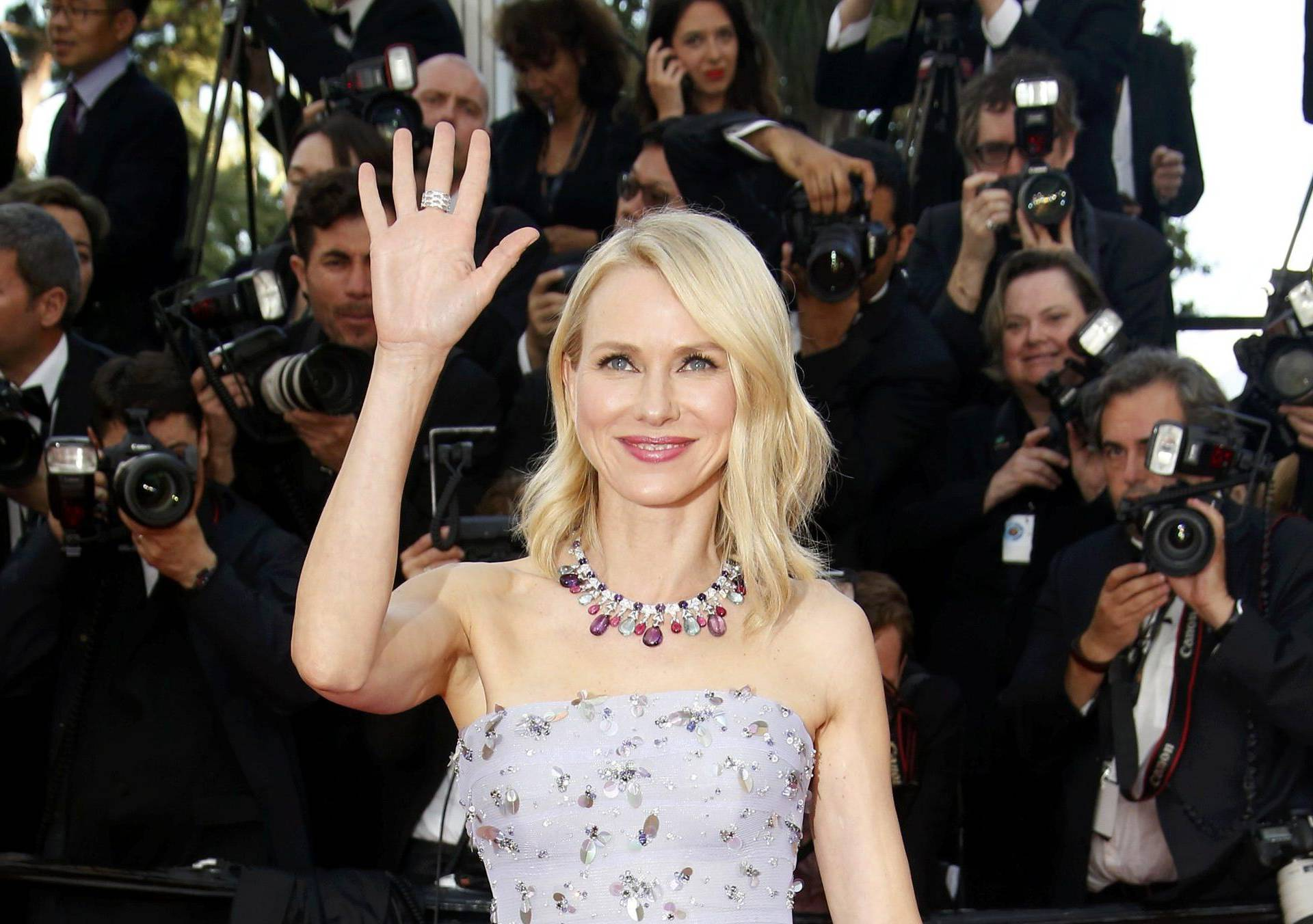 """Actress Naomi Watts poses on the red carpet as she arrives for the opening ceremony and the screening of the film """"Cafe Society"""" out of competition during the 69th Cannes Film Festival in Cannes"""