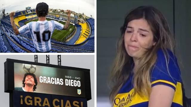 Velika tuga: Maradonina kći nije mogla suspregnuti suze...