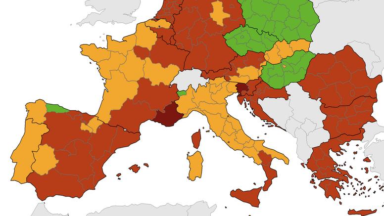 Stigla nova korona karta: Hrvatska je ostala u crvenom