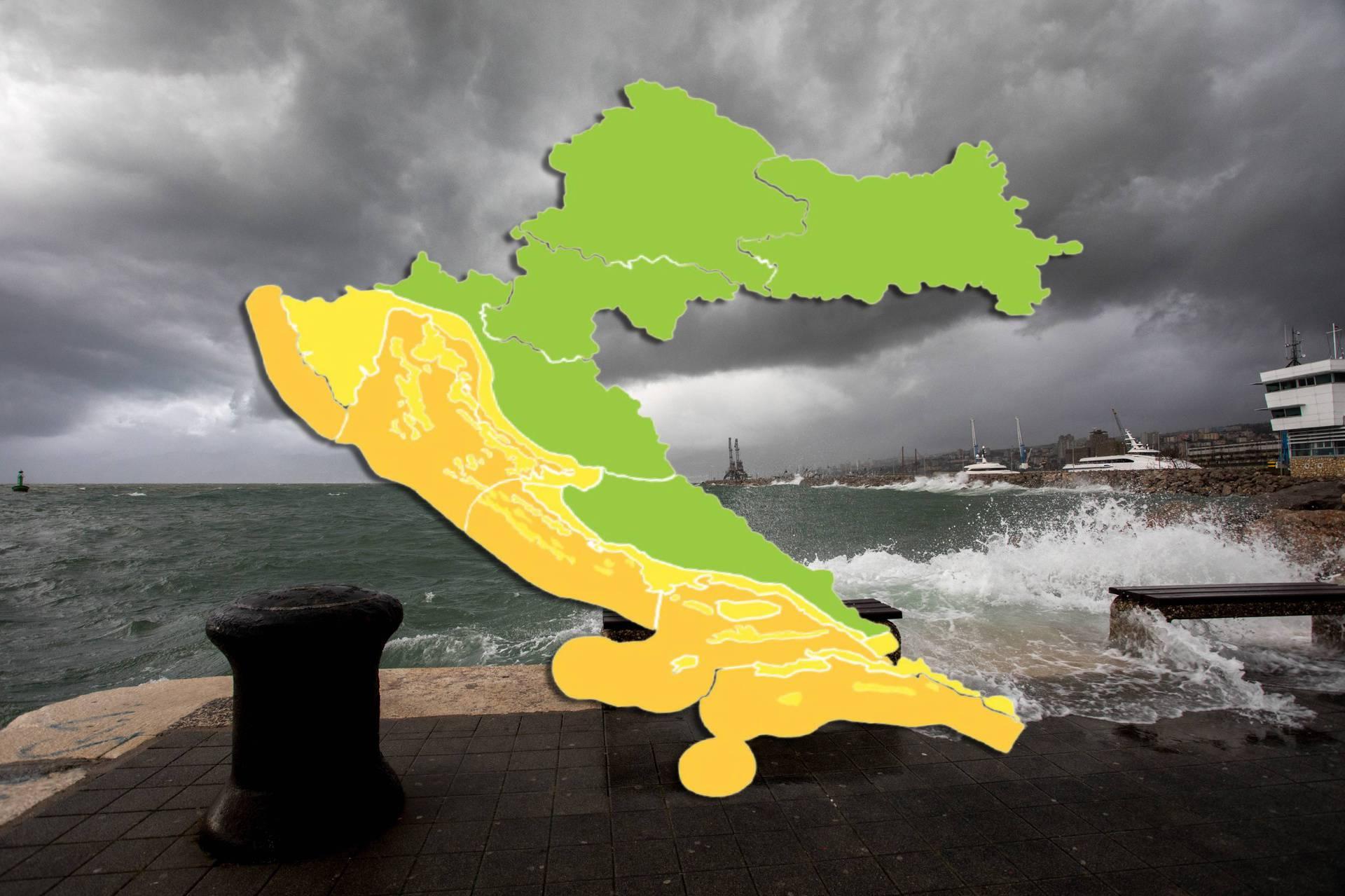 I dalje žuto upozorenje za obalu  Hrvatske: Spremni za reprizu?
