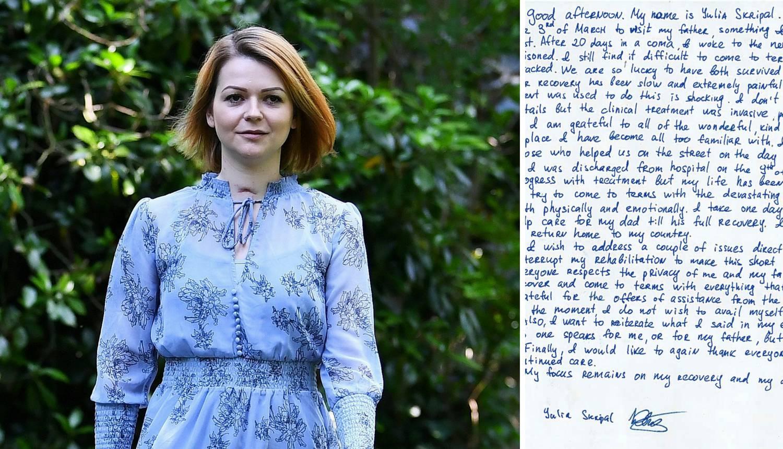 Julija Skripal: 'Moj život se  nakon napada skroz okrenuo'